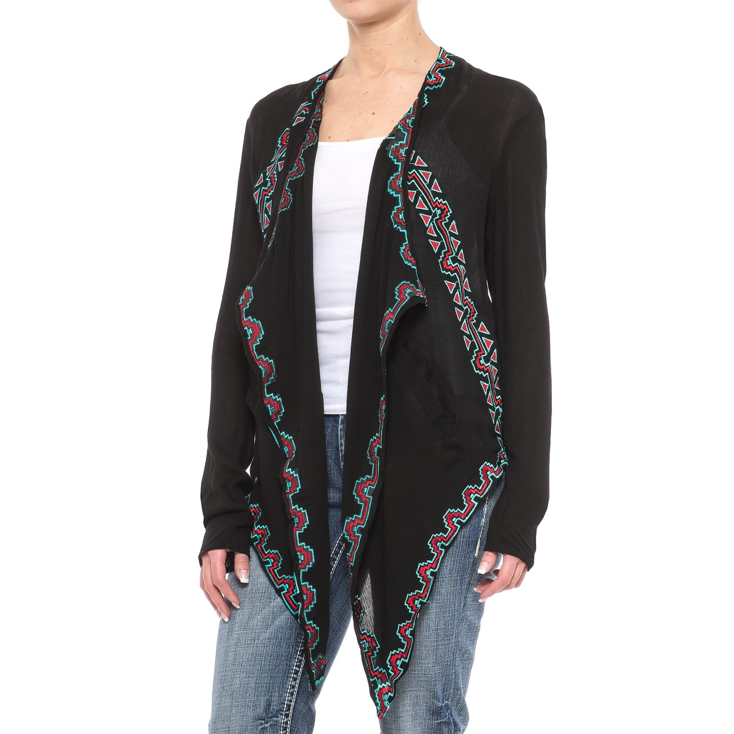 Rock & Roll Cowgirl Blanket Wrap Cardigan Jacket (For Women ...