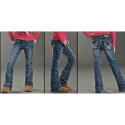 Rock & Roll Cowgirl Bootcut Jeans (For Girls) in Medium Wash