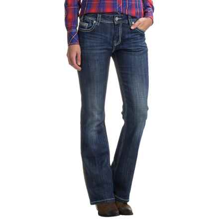 Rock & Roll Cowgirl Bootcut Jeans - Mid Rise (For Women) in Dark Vintage - Closeouts