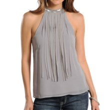 Rock & Roll Cowgirl Chain Embellished Blouse - Sleeveless (For Women) in Silver - Closeouts