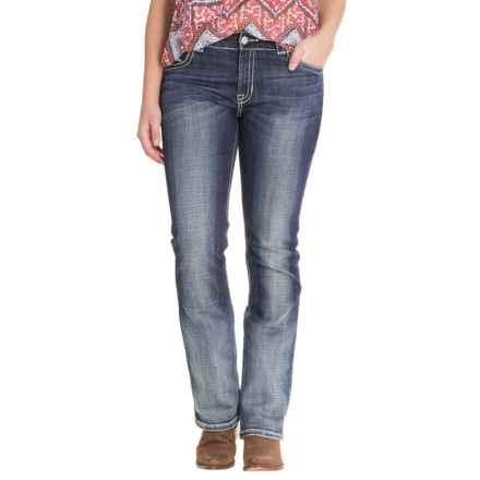 Rock & Roll Cowgirl Crossing Aztec Jeans - Boyfriend Fit (For Women) in Medium Vintage Wash - Closeouts