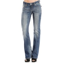 Rock & Roll Cowgirl Crystal-Embellished Jeans - Bootcut, Mid Rise (For Women) in Medium Vintage Wash - Overstock