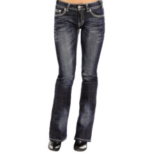 Rock & Roll Cowgirl Embellished Jeans - Mid Rise, Bootcut (For Women) in Dark Vintage Wash - Closeouts