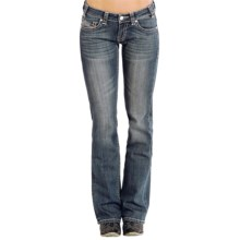 Rock & Roll Cowgirl Embroidered Riding Jeans - Bootcut (For Women) in Medium Vintage Wash - Closeouts