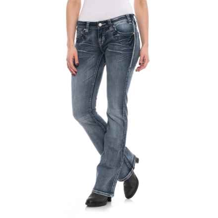 Rock & Roll Cowgirl Extra Stitch Rival Bootcut Jeans (For Women) in Medium Vintage - Closeouts
