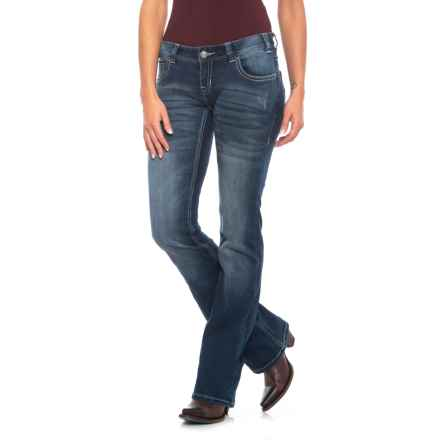 Rock & Roll Cowgirl Extra Stretch Jeans - Low Rise, Bootcut (For Women) in Dark Vintage - Closeouts