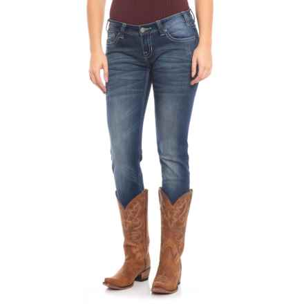 Rock & Roll Cowgirl Extra Stretch Original Jeans - Low Rise, Skinny (For Women) in Dark Vintage - Closeouts