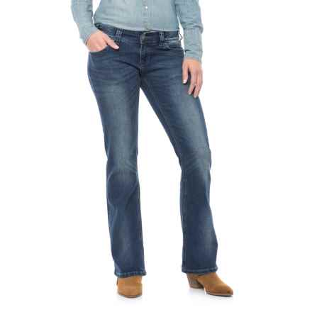 Rock & Roll Cowgirl Extra-Stretch Original Low-Rise Jeans - Bootcut (For Women) in Dark Vintage - Closeouts