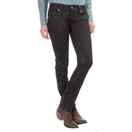 Rock & Roll Cowgirl Faux-Leather Skinny Jeans - Low Rise (For Women) in Merlot - Closeouts