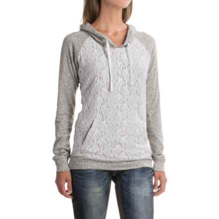 Rock & Roll Cowgirl Floral Lace Hoodie (For Women) in Grey - Closeouts