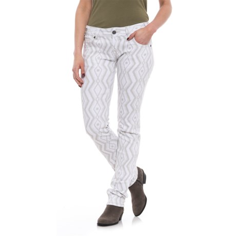 Rock & Roll Cowgirl Geometric Print Skinny Jeans - Low Rise (For Women) in White