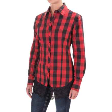 Rock & Roll Cowgirl Gingham Shirt - Snap Front, Long Sleeve (For Women) in Red - Closeouts