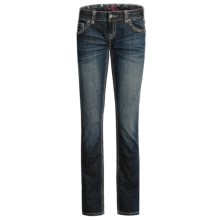 Rock & Roll Cowgirl Hematite Patch Pocket Jeans - Low Rise, Bootcut (For Women) in Dark Wash - Closeouts