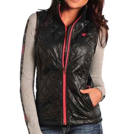 Rock & Roll Cowgirl Lightweight Quilted Vest - Insulated (For Women) in Black - Closeouts