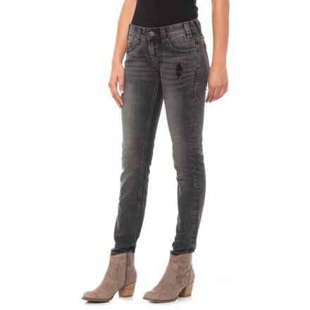 Rock & Roll Cowgirl Low Rise Skinny Jeans (For Women) in Grey Wash - Closeouts