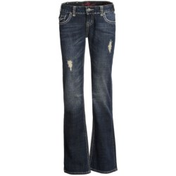 Rock & Roll Cowgirl Lurex® Deco Stitching Jeans - Low Rise, Bootcut (For Women) in Dark Wash