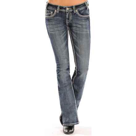 Rock & Roll Cowgirl Modern Pocket Jeans - Low Rise, Bootcut (For Women) in Medium Vintage Wash - Closeouts