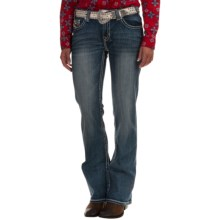 Rock & Roll Cowgirl Multi-Stitch Bootcut Jeans - Mid Rise (For Women) in Light Vintage Wash - Overstock