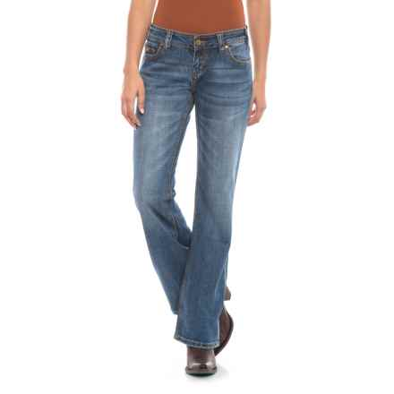 Rock & Roll Cowgirl Multi-Stitch Riding Jeans - Bootcut (For Women) in Medium Vintage - Closeouts
