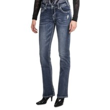 Rock & Roll Cowgirl Nailhead Bootcut Jeans (For Women) in Medium Wash - Closeouts
