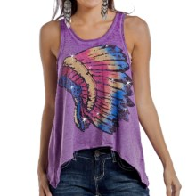 Rock & Roll Cowgirl Native American Slouch Tank Top (For Women) in Iris Multi - Closeouts