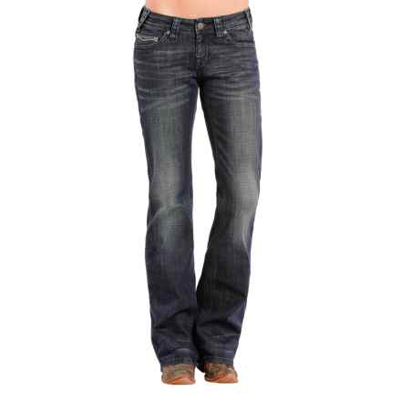 Rock & Roll Cowgirl Natural Riding Jeans - Bootcut (For Women) in Dark Wash - Closeouts