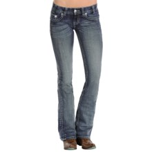 Rock & Roll Cowgirl Original Jeans - Low Rise, Bootcut (For Women) in Dark Vintage Wash - Closeouts