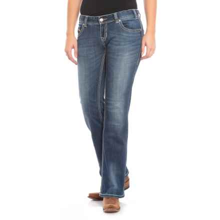 Rock & Roll Cowgirl Original Low Rise Bootcut Jeans (For Women) in Dark Vintage - Closeouts