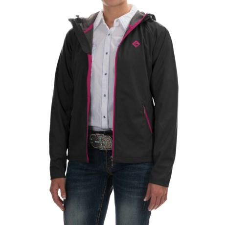 Rock & Roll Cowgirl Raglan Ribbed Jacket (For Women) in Black