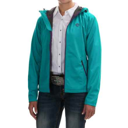 Rock & Roll Cowgirl Raglan Ribbed Jacket (For Women) in Turquiose - Overstock