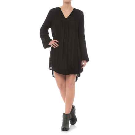 Rock & Roll Cowgirl Rayon Weave Dress - Long Sleeve (For Women) in Black - Closeouts