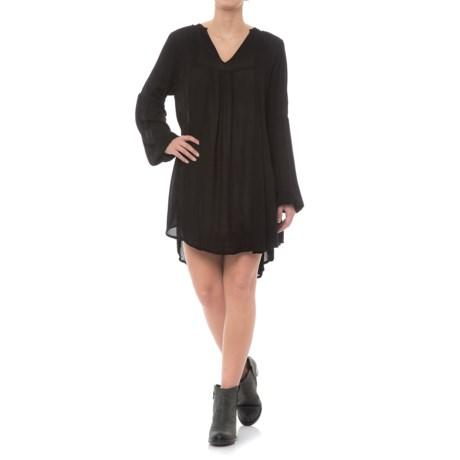 Rock & Roll Cowgirl Rayon Weave Dress - Long Sleeve (For Women) in Black