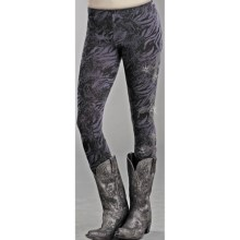Rock & Roll Cowgirl Rhinestone Leggings (For Women) in Black/Purple - Closeouts