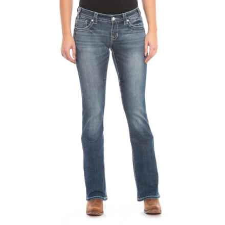 Rock & Roll Cowgirl Rival Bootcut Jeans - Low Rise (For Women) in Dark Vintage - Closeouts
