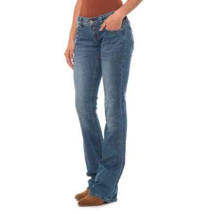 Rock & Roll Cowgirl Rival Bootcut Jeans - Low Rise (For Women) in Medium Vintage - Closeouts