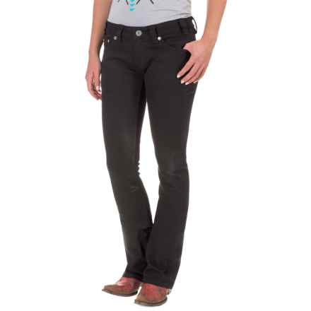 Rock & Roll Cowgirl Rival Jeans - Low Rise, Bootcut (For Women) in Black - Closeouts