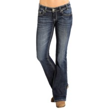 Rock & Roll Cowgirl Rival Jeans - Low Rise, Bootcut (For Women) in Dark Vintage Wash - Closeouts