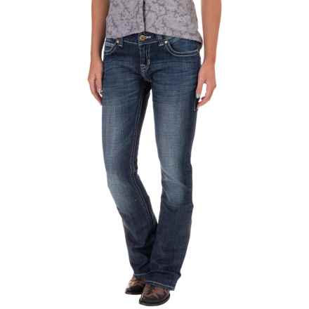 Rock & Roll Cowgirl Rival Jeans - Low Rise, Bootcut (For Women) in Dark Vintage - Closeouts
