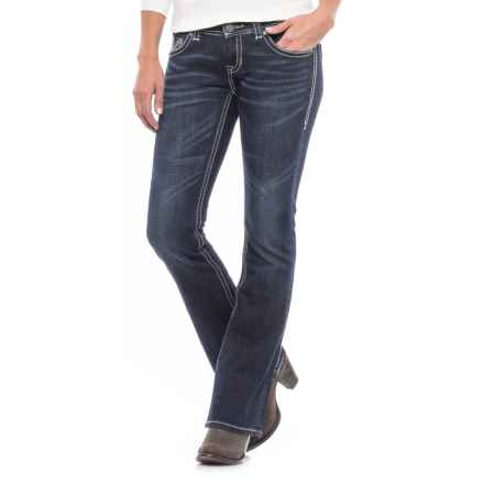 Rock & Roll Cowgirl Rival Jeans - Low Rise, Bootcut (For Women) in Dark Wash - Closeouts