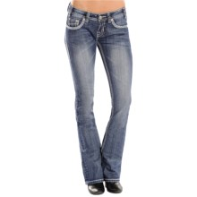 Rock & Roll Cowgirl Rival Jeans - Low Rise, Bootcut (For Women) in Light Vintage Wash - Closeouts
