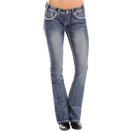 Rock and Roll Cowgirl Rival Jeans Low Rise, Bootcut (For Women)