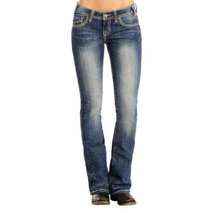 Rock & Roll Cowgirl Rival Jeans - Low Rise, Bootcut (For Women) in Medium Vintage Wash - Overstock