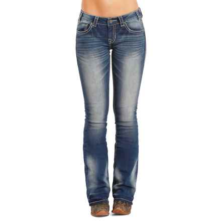Rock & Roll Cowgirl Rival Jeans - Stretch Denim, Low Rise (For Women) in Medium Vintage - Closeouts