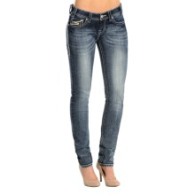 Rock & Roll Cowgirl Rival Skinny Jeans - Low Rise (For Women) in Medium Vintage Wash - Overstock