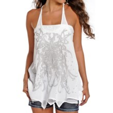 Rock & Roll Cowgirl Screenprint Georgette Tank Top - Racerback (For Women) in White - Closeouts