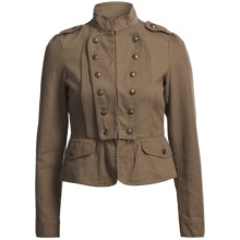 Rock & Roll Cowgirl Screenprint Military Style Jacket (For Women) in Khaki - Closeouts