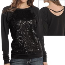 Rock & Roll Cowgirl Sequin Shirt - Long Sleeve (For Women) in Black Sequins - Closeouts
