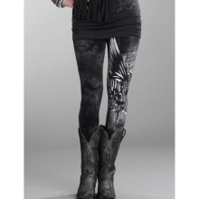 Rock & Roll Cowgirl Tie-Dye Heart & Soul Leggings (For Women) in Steel - Closeouts