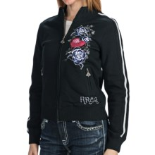 Rock & Roll Cowgirl Track Jacket (For Women) in Black - Closeouts