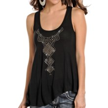 Rock & Roll Cowgirl Trapeze-Cut Tank Top (For Women) in Black - Closeouts